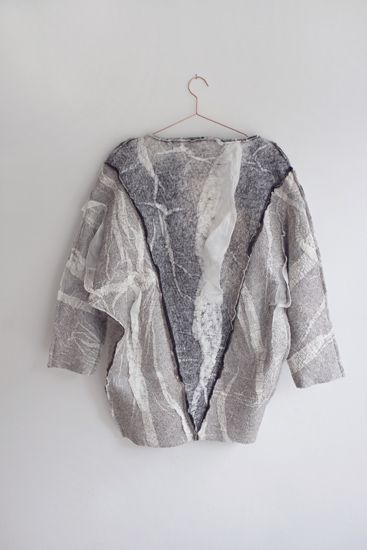 Belle Naturelle Japan Shawl Angora Cardigan Silver All our wearables are one size, and thanks to the fine fitting-form and the V on the back, flattering for most sizes.
