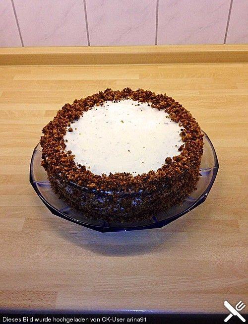 Russisch Brot-Milchmädchen-Kuchen (Rezept mit Bild) - http://back-dein-brot-selber.de/brot-selber-backen-rezepte/russisch-brot-milchmaedchen-kuchen-rezept-mit-bild/