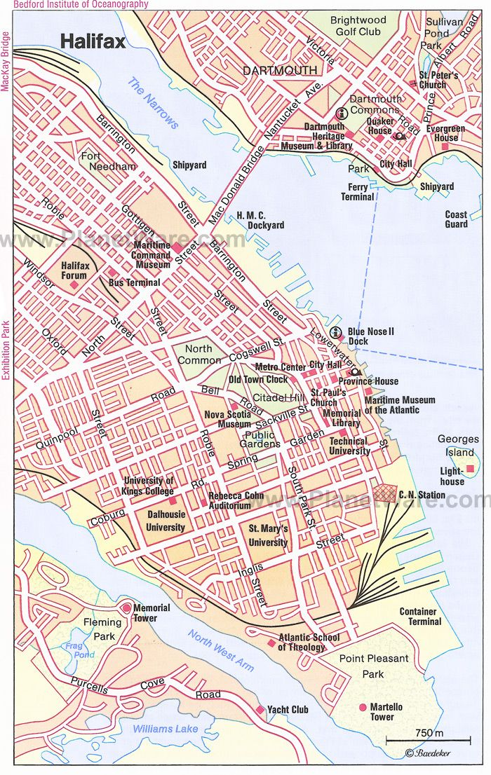 Halifax, Nova Scotia Map next country GREENLAND