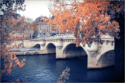 "Autumn in Paris, Paris Photography, Wall Art Print, Paris Decor, Romantic Art Print, Fine Art Photography From ""Autumn"" photo series."