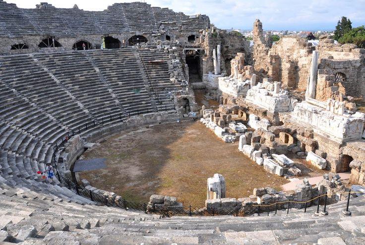 The Theatre at Side (modern Eski Antalya, Turkey)