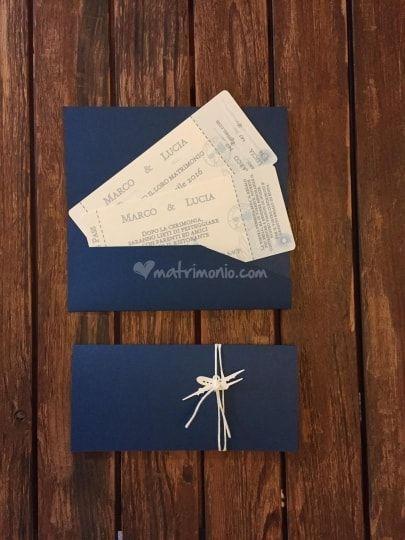 Partecipazione tema viaggio biglietto aereo   - Wedding Invitation Travel airplane ticket @Gli Acquerelli di Loredana