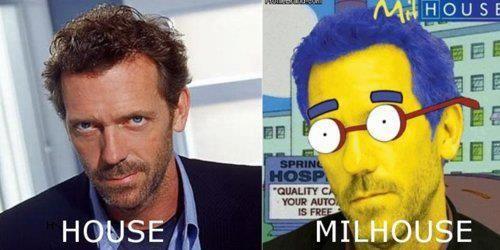 House - Milhouse: Giggle, House Milhouse, Funny Junk, Names, Celebrity Puns, Likes Milhouse, Funny Stuff, Humor