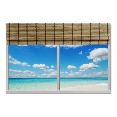 Bamboo Beach Instant Window Poster by reflections06