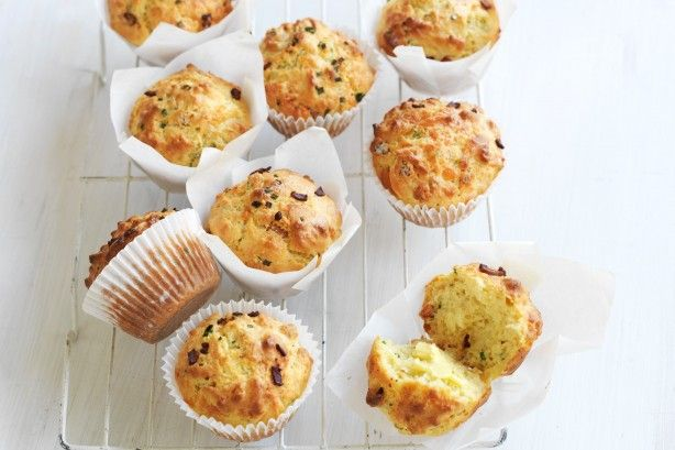 These easy Bacon and cheese muffins by taste member, 'tasimum7304' make a delicious lunch-box snack.