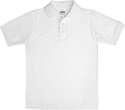 French Toast School Uniform Boys Short Sleeve Pique Polo Shirt White Medium (8)