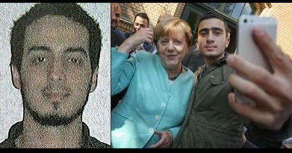 BrusselsAttacker selfie with #Merkel - Twitter Search