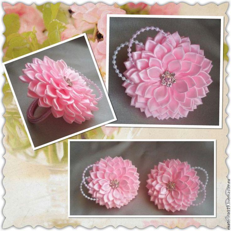 """Купить Резинки для волос """"Милашки"""" - розовый, резинка с цветком, резинка для волос, детские резинки"""
