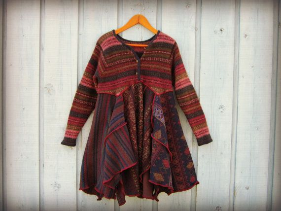 109 best recycled sweaters images on Pinterest | Upcycled clothing ...