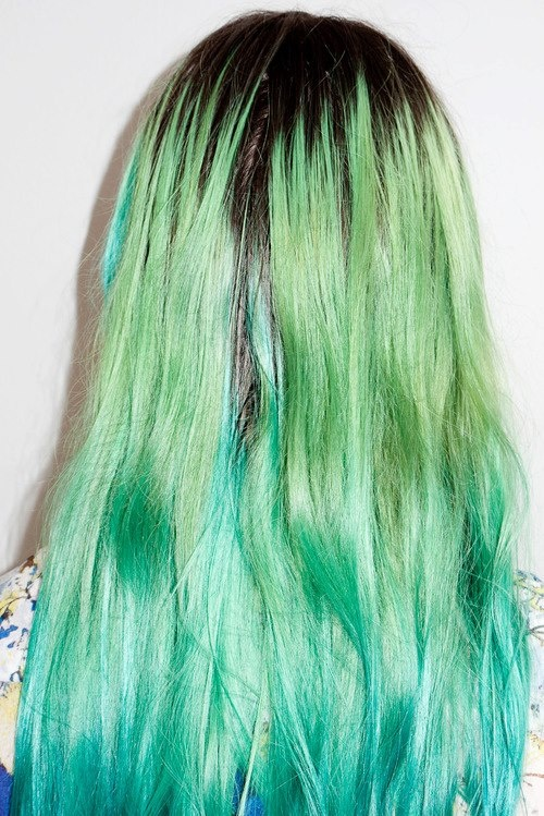 Verde con azul *-*..