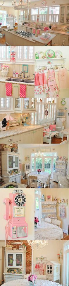 My husband would kill me if I had that much pink in the house, but I love the shabby chic look!