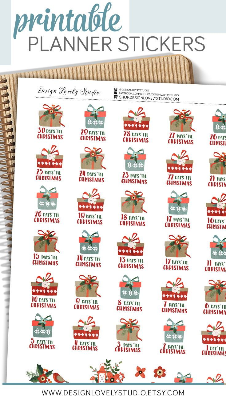 Pin by Paula McDowell on Stickers in 2020 | Christmas countdown