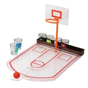 Tabletop Mini Basketball Shot Glass Game Men Easter Basket Filler Stuffer Gift Game board with glass shot glasses instuctions included. The set includes 6 shot glasses, and a game board. Made of glass.  http://awsomegadgetsandtoysforgirlsandboys.com/cute-easter-basket-ideas-boyfriend/ Tabletop Mini Basketball Shot Glass Game Men Easter Basket Filler Stuffer Gift