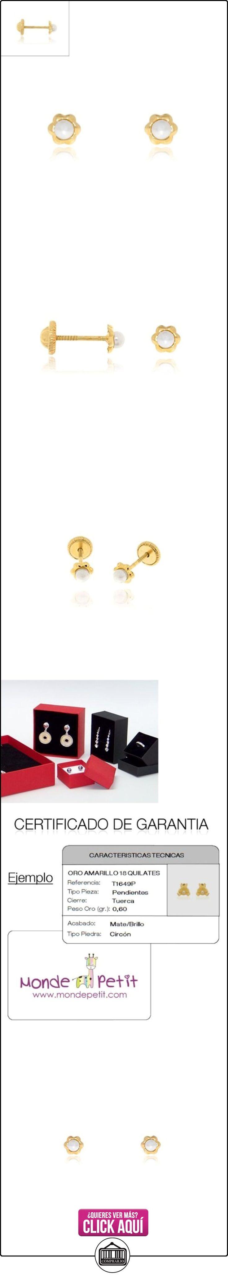 Monde Petit T1654P - Pendientes de bebe/niña oro 18 kts. de perla margarita  ✿ Joyas para mujer - Las mejores ofertas ✿ ▬► Ver oferta: http://comprar.io/goto/B00KCP16X8