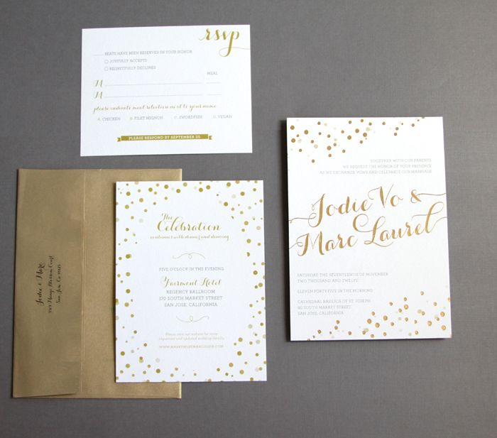 Beautiful Wedding Invitations Metallic Foil Stamping Black Silver Styles,  And Reception,