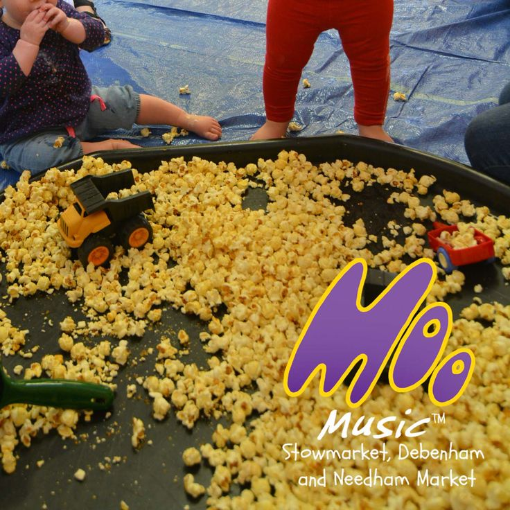 Popcorn boulders. Heavy machinery taste safe sensory non messy play.