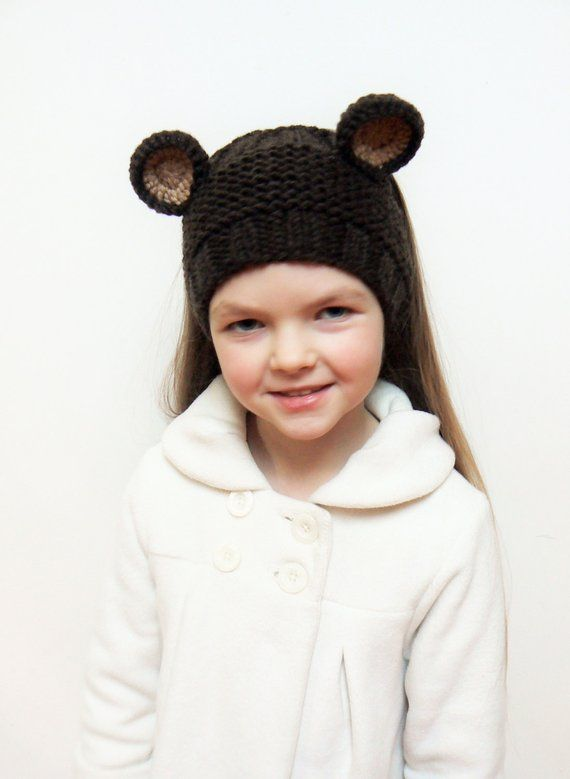 Knit Headband, Bears Headband, Ear Warmer, Bear Ears, Winter ...