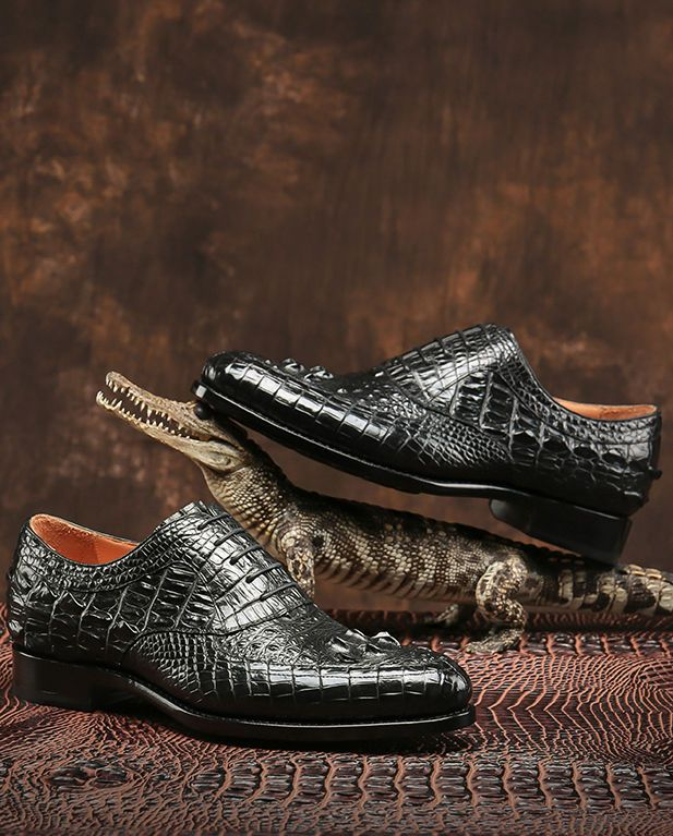 Alligator shoes, crocodile shoes for