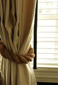 Posts similar to: burlap curtains - no sew. - Juxtapost