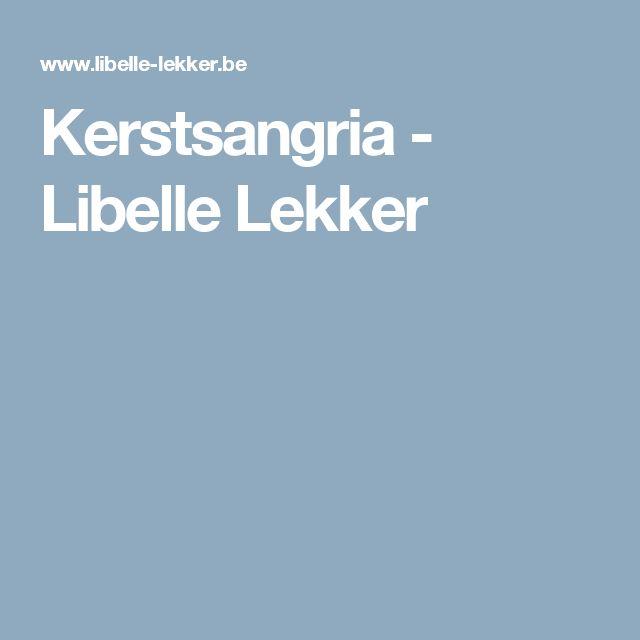 Kerstsangria -                         Libelle Lekker