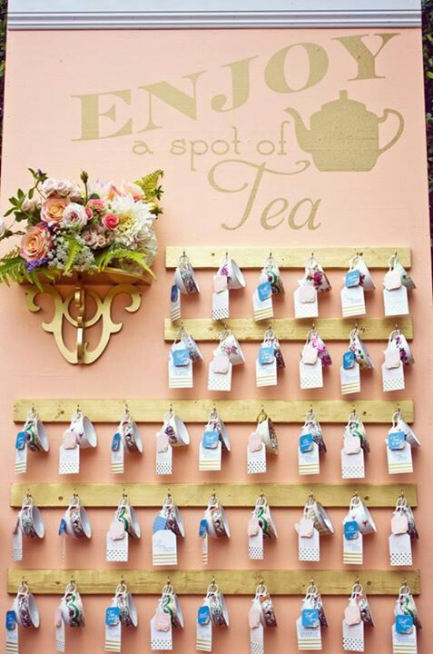The Key to Tea....Traveling Tea Cup and Tea Tags Board