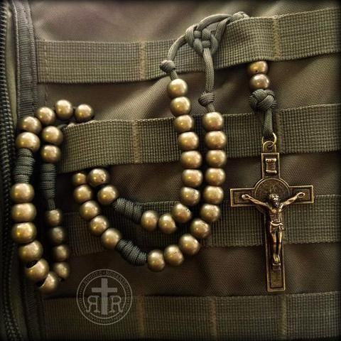 Soldier's Camo Paracord Rosary