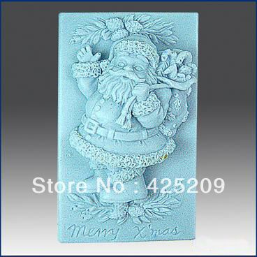 Free shipping 3D Handmade soap silicone mold, soap molds candle christmas santa  molds,silica gel mould,silicon tools wholesale $10.63