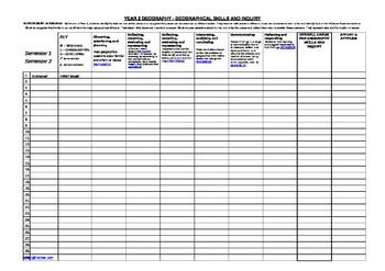 Year 2 Checklist and Student Profile Sheet GEOGRAPHY A3 Australian Curriculum Assessment