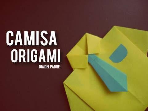 Descripcion del video - »»     Hola! en esta ocasion resubo este tutorial que tenia errores :S  recuerden que estaba afonica!  Espero que ya haya quedado bien ... es de como hacer una camisa de origami que pueden utilizar como tarjeta muy original para regalar el dia del padre, para el cumpleaños de su papá o para cuando se le ocurra :3     SUSCRIBET...