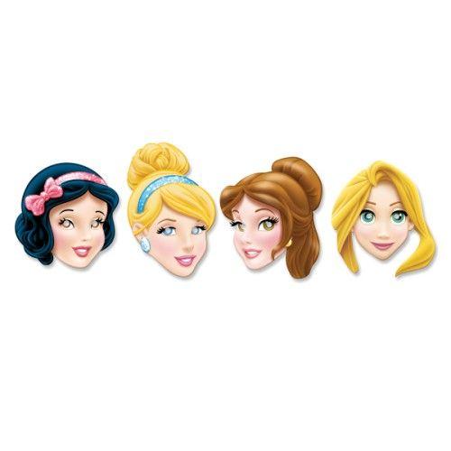 Ces masques transforment les petites filles en Princesses Walt Disney. Elles ont le choix entre Cendrillon, Raiponce, la Belle et Blanche-Neige. Lors d'une fête d'anniversaire ou d'un goûter entre amies, ces masques peuvent compléter un déguisement ou un thème.
