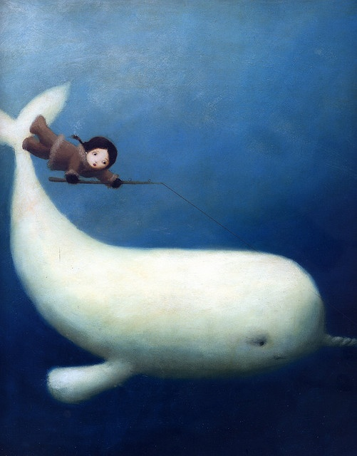 Great for wall decor - awesome Whale Illustration by Stephen Mackey