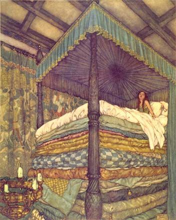 "Dulac  ""Princess and the Pea"". One of my favorite stories as a kid."