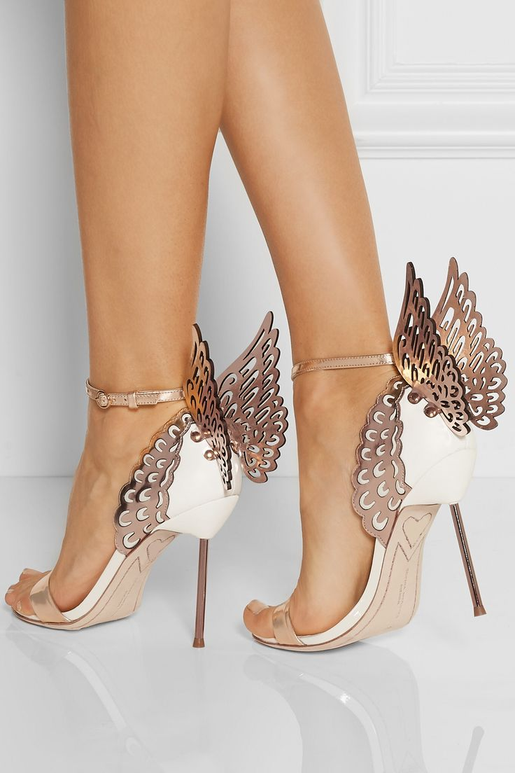 White Gold Shoes Heels