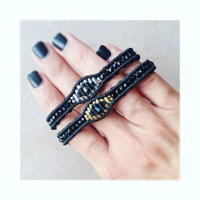 • FR-EYE-DAY •#ohsocutethings #handmade #jewelry #greekdesigners #greekdesigner #madeingreece#instapic#instajewels #instafashion #jewelrygram #hippiechic#armparty#accessories #armcandy #bracelets #beads #bohemian #bohojewelry #hippiechic #fall #style #fashion #fashionista #fashionjewelry #instalike #evileye #lucky #greekjewelry #boho #black #fashiongram