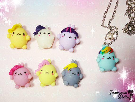 My Little Pony Necklace, MLP, Kawaii Polymer Clay Charms, Friendship is Magic Jewelry, Kawaii Polymer Clay Charms