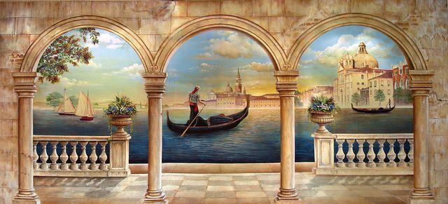 Venice at Dusk Trompe L'oeil 9' x 19'