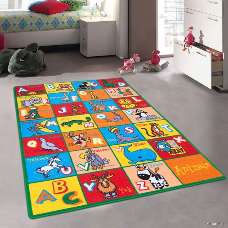 Kids Learn Abc Alphabet Letters With Animals Rug