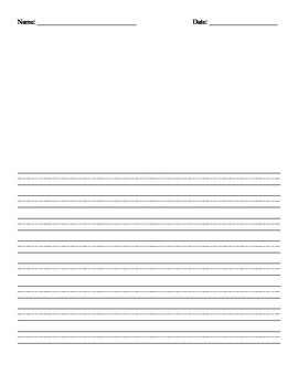 Declarative image inside printable primary writing paper