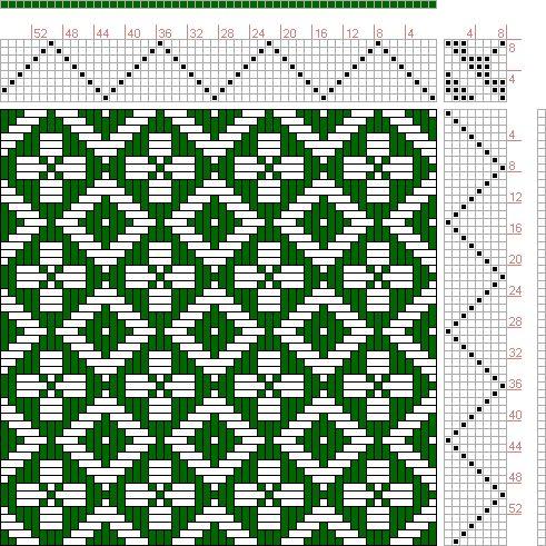 Hand Weaving Draft: Feb 1952 No. 11, Master Weaver, 8S, 8T - Handweaving.net Hand Weaving and Draft Archive