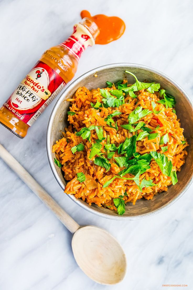I love this spicy portugese peri peri style rice!