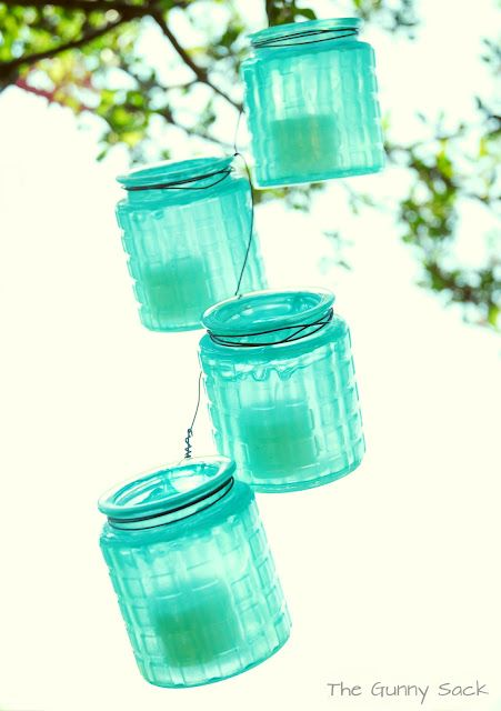 Anthropologie Knockoff Hanging Jar Strand, maybe mason jars planted with herbs for the window in spring?