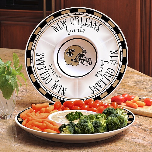 Memory Company New Orleans Saints Game Day Chip and Dip Tray