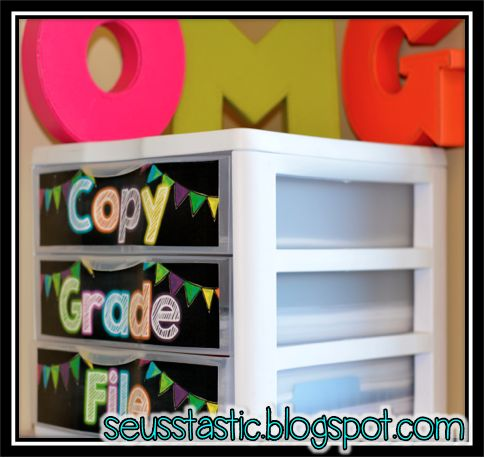 """Seusstastic Classroom Inspirations: New Classroom Reveal.....Finally!  perfect """"hiding"""" place for my stacks :)"""