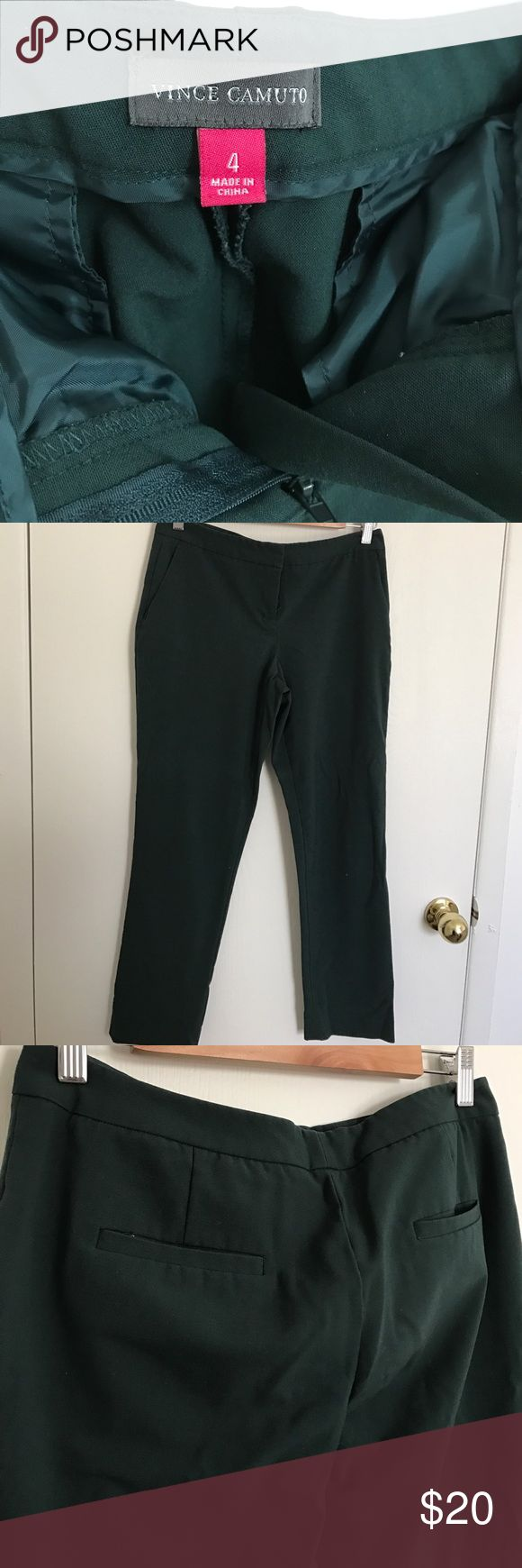 Forest green women's dress pants: Vince Camuto Forest green slim/straight leg dress pants. Vince Camuto Pants Straight Leg