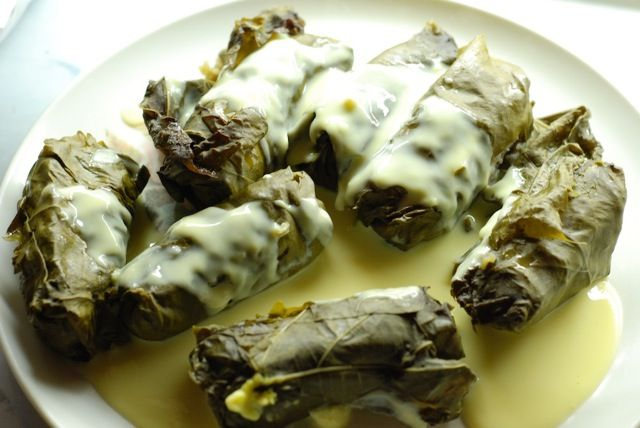 Dolmades Me Avgolemono Stuffed Grape Leaves A Favorite