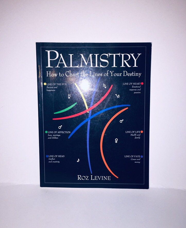 Vintage 1992 Palmistry How To Chart The Lines Of Your Destiny Etsy Destiny Book Palmistry Books To Read