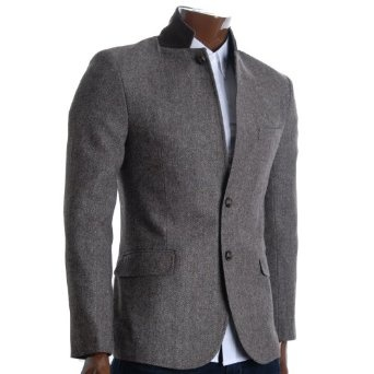 http://amzn.to/10l827t: FLATSEVEN Mens Slim Fit Winter Wool Blends Jacket Herringbone (BJ210): Clothing