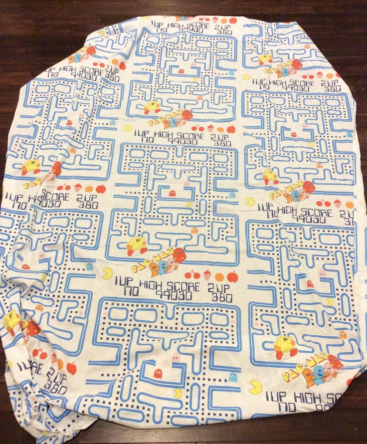 Vintage PAC-MAN Twin Size Fitted Bed Sheet, Pac Man Bedding, Collectible Pac Man, Vintage Arcade Games, Atari Games, Vintage Kids Sheets by Lalecreations on Etsy