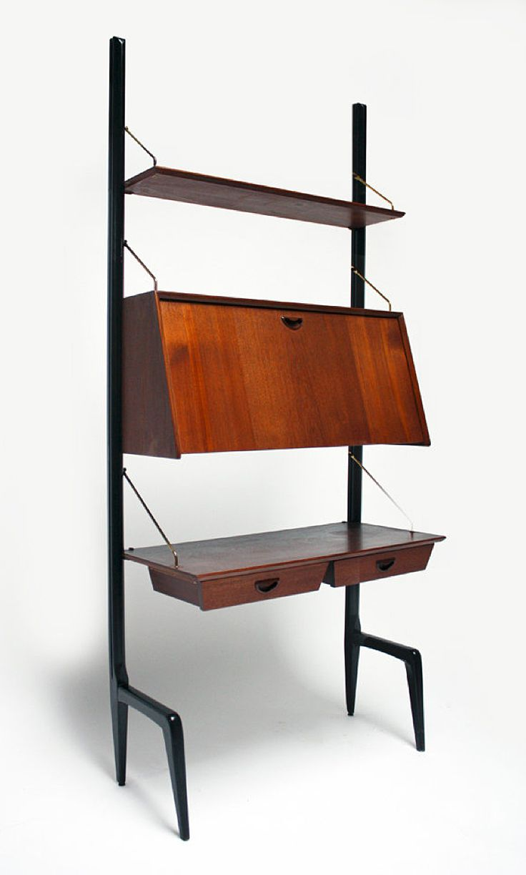 1950s Wall Unit designed by Louis van Teeffelen for Wébé Meubel