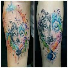 Image result for lobo tattoo acuarela